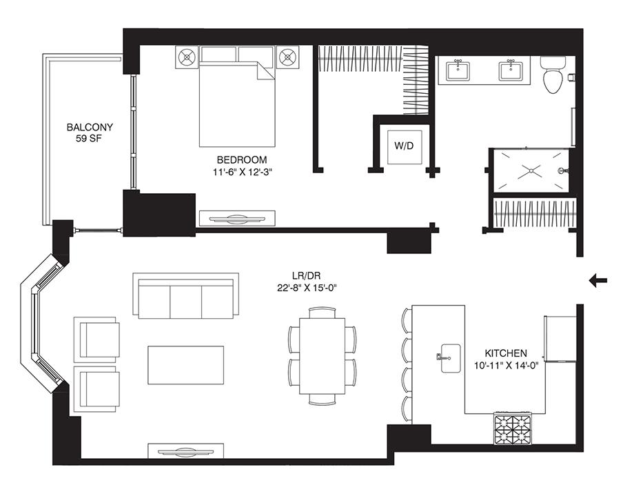 Residence 307 Floor Plan