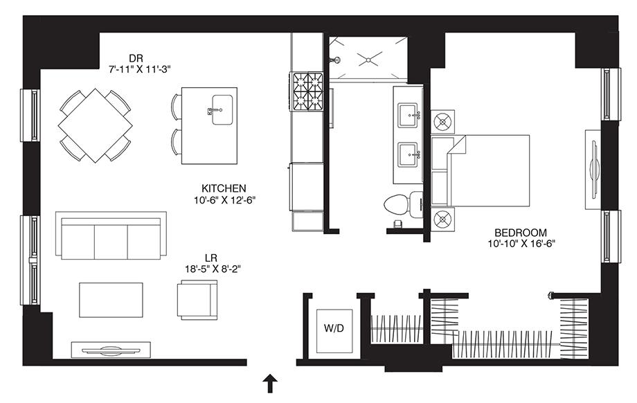 Residence 308 Floor Plan