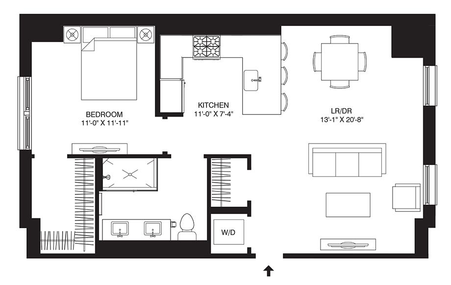 Residence 309 Floor Plan
