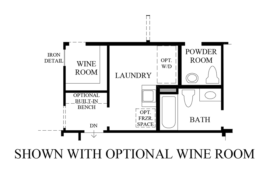 Optional Wine Rom Floor Plan