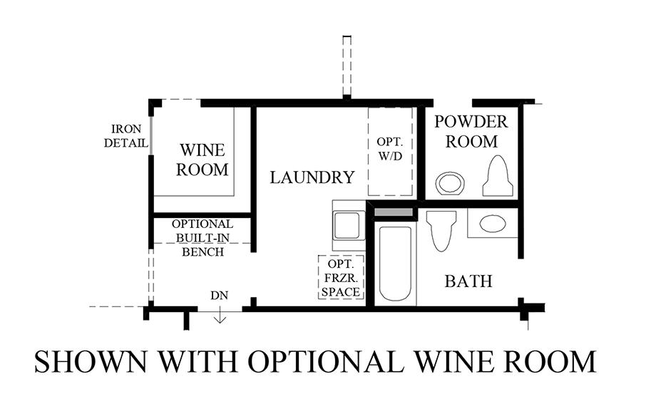 Optional Wine Rom Floor Plan