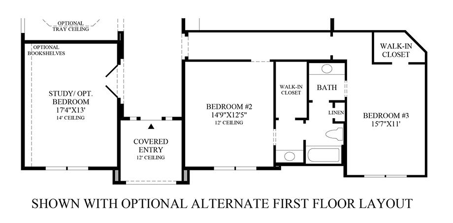 Optional Alternative 1st Floor Layout Floor Plan