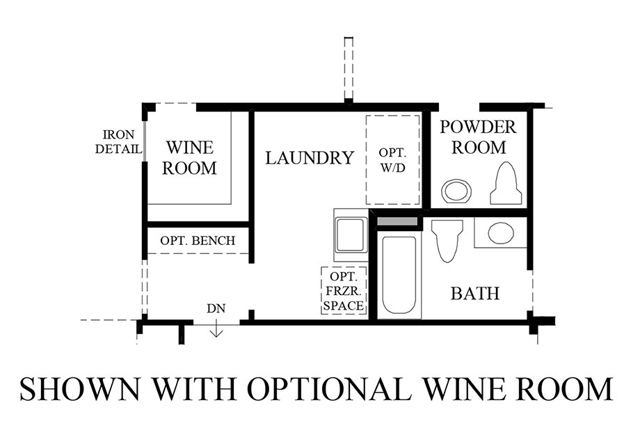 Optional Wine Room Floor Plan