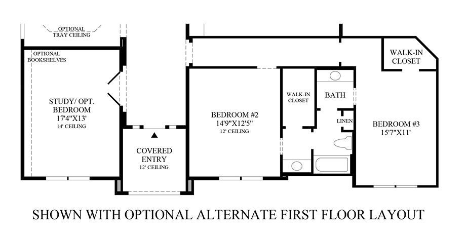 Optional Alternate 1st Floor Layout Floor Plan
