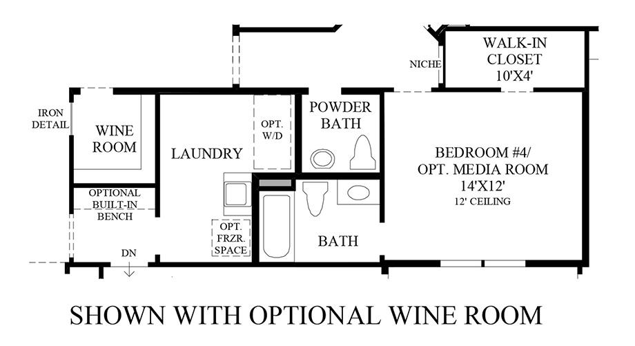 Optional Wine Room Floor Plan