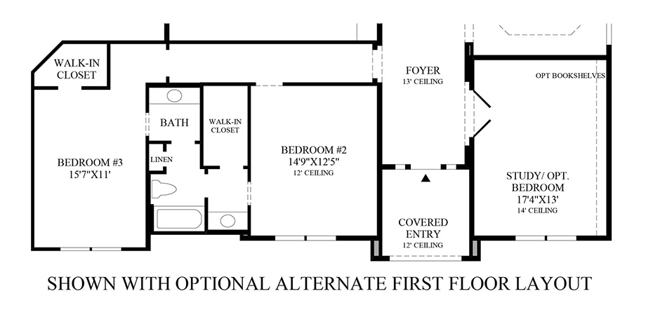 Optional Alternate 1st Floor Layout Floor Plan