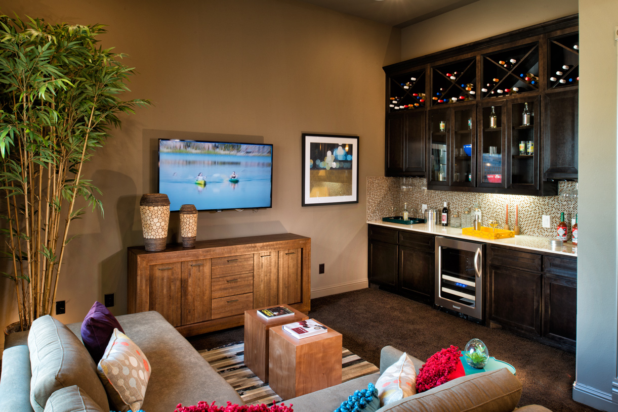 Optional media room allows for more room to entertain