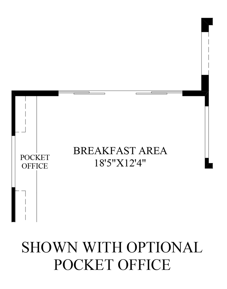 Optional Pocket Office Floor Plan