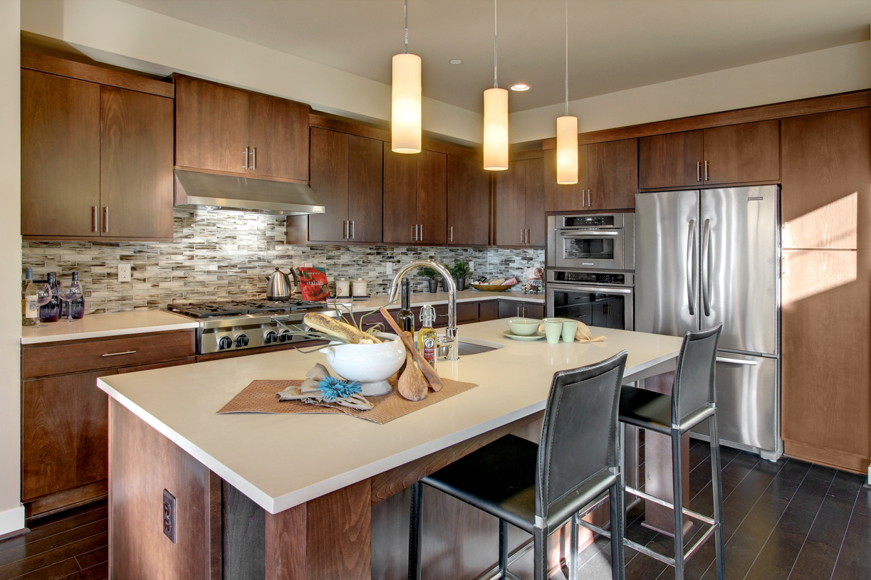 Well designed kitchen with center island