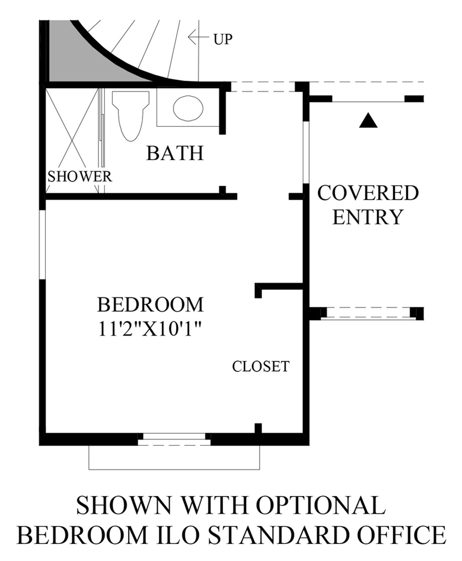 Optional Bedroom ILO Standard Office Floor Plan