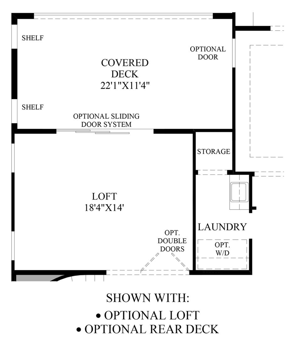 Optional Loft & Rear Deck Floor Plan