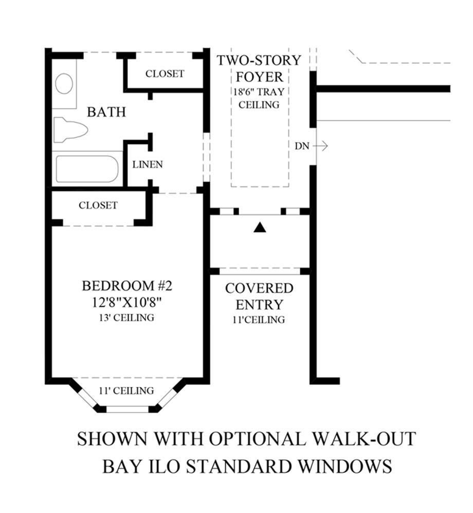 Optional Walk-Out Bay Floor Plan