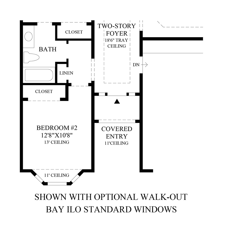 Optional Walk-Out Bay ILO Standard Windows Floor Plan