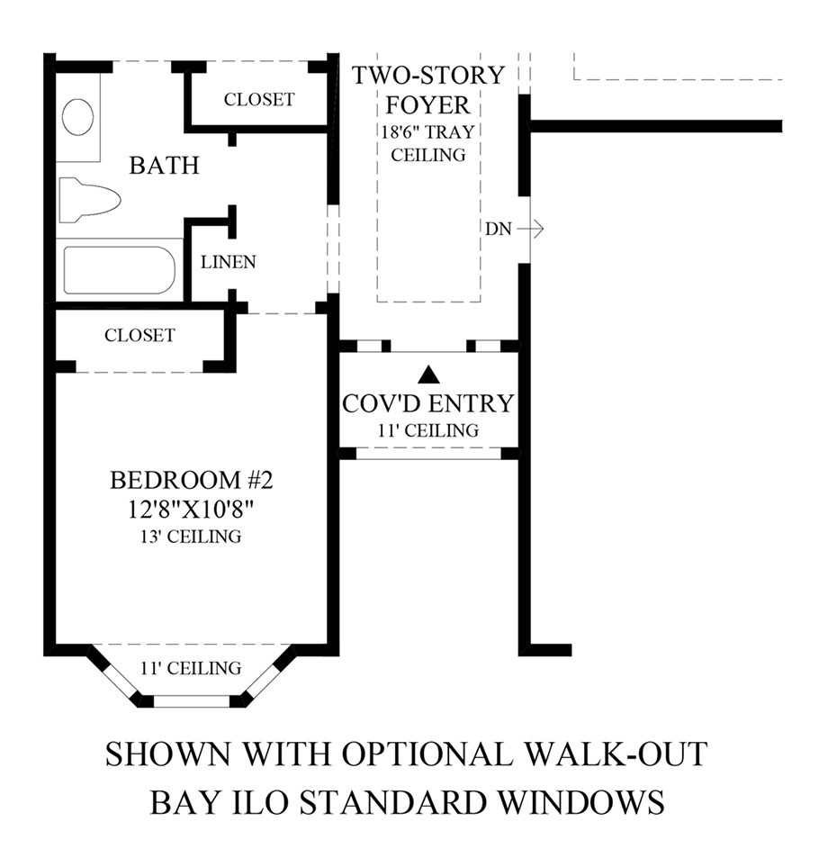 Optional Walk-Out Bay ILO Standard Windows Floor Plan