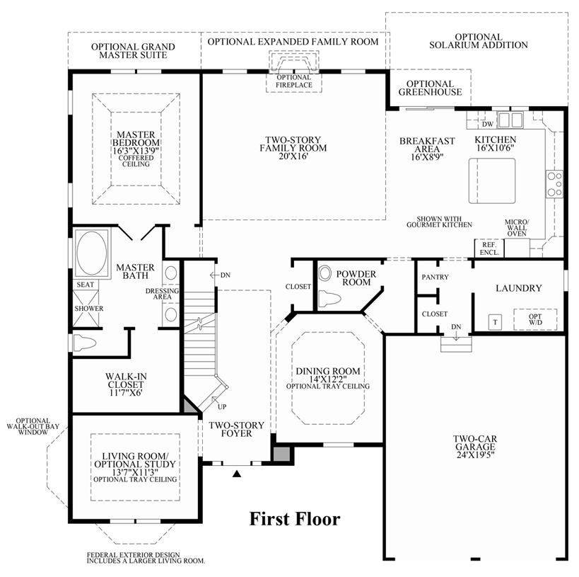 Dominion Valley Country Club - Villas | The Bridleridge Home Design