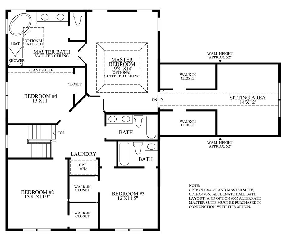 Optional Additional Bath w/ Alternate Laundry Location Floor Plan