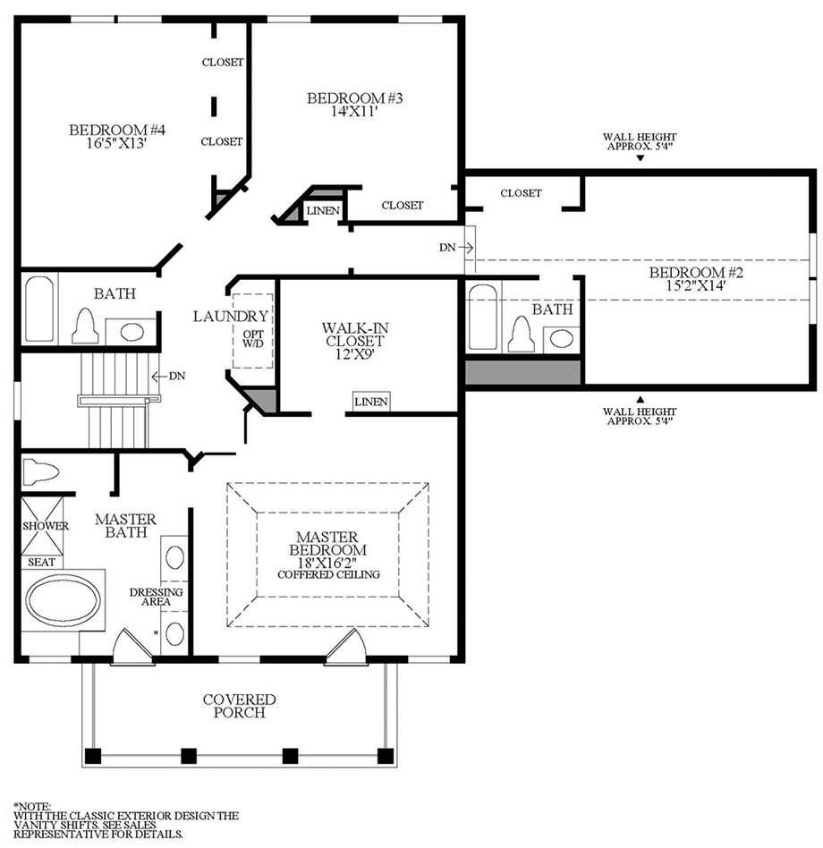 Optional Alternate 2nd Floor w/ Additional Bath and Alternate Laundry Floor Plan