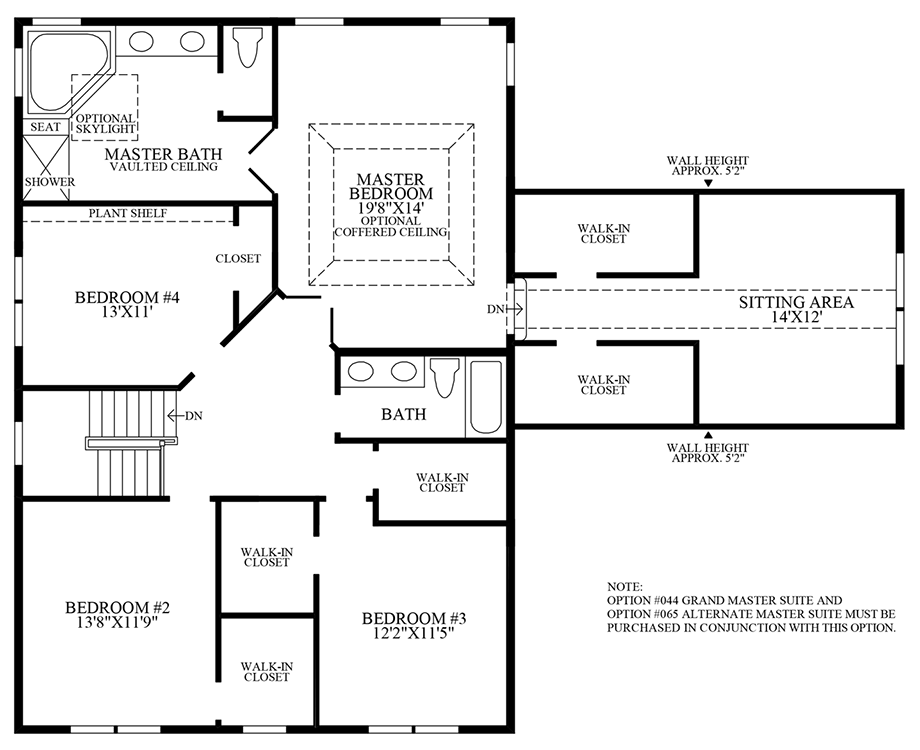 Optional Alternate Hall Bath Floor Plan