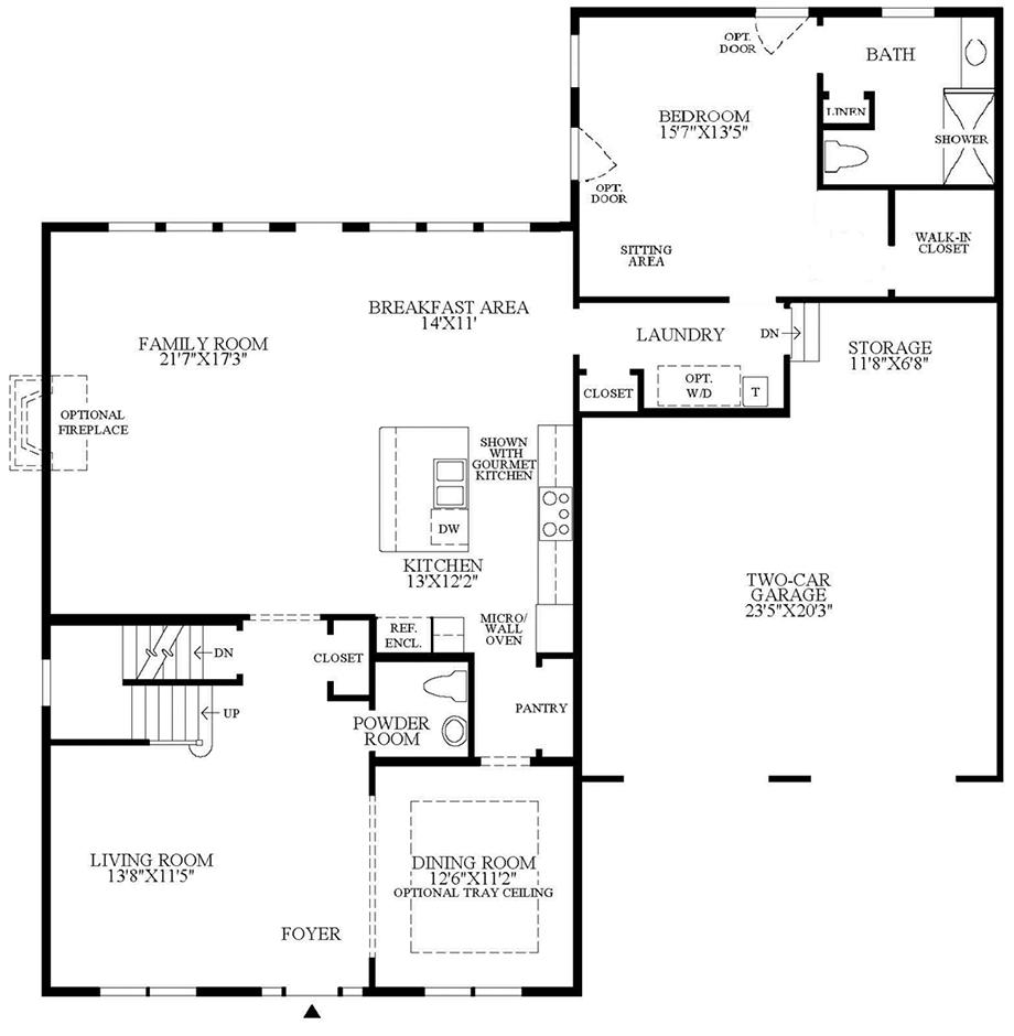 Optional Multi-Generational Suite Addition Floor Plan