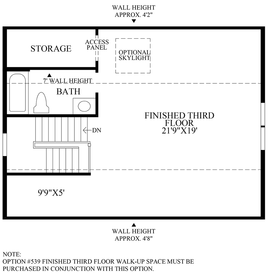 Optional Loft w/ Full Bath Floor Plan