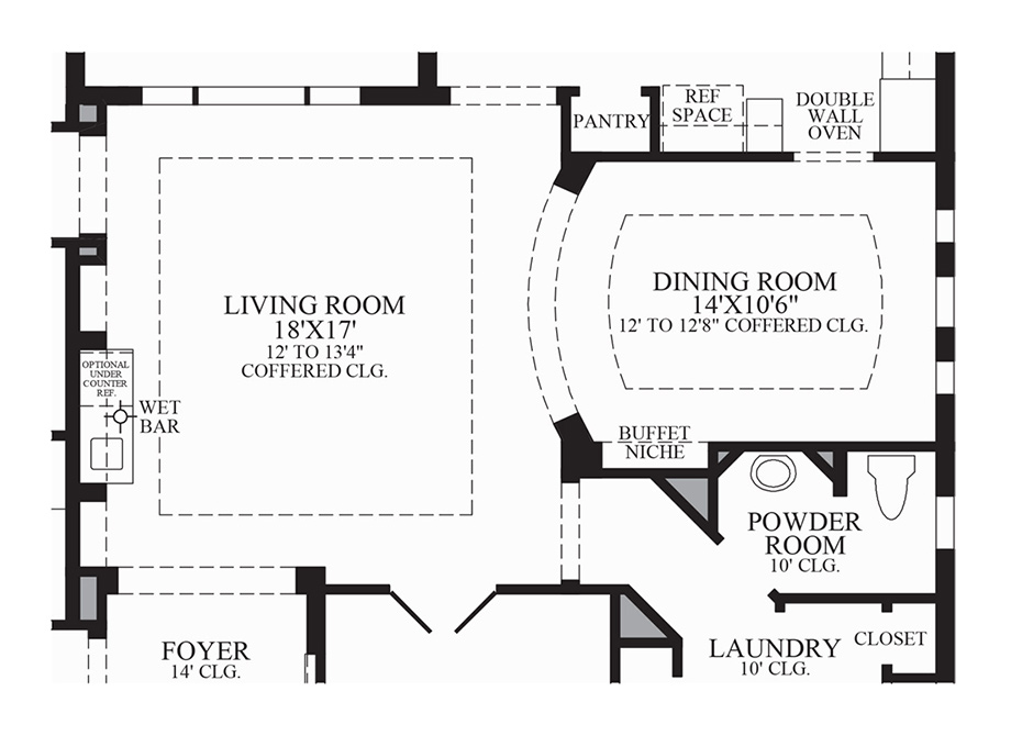 Optional Wet Bar Floor Plan