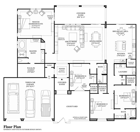 Office Floor Plans For 20000 Sq Ft House Design And