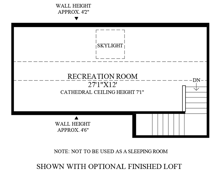 Optional 3rd Floor Floor Plan
