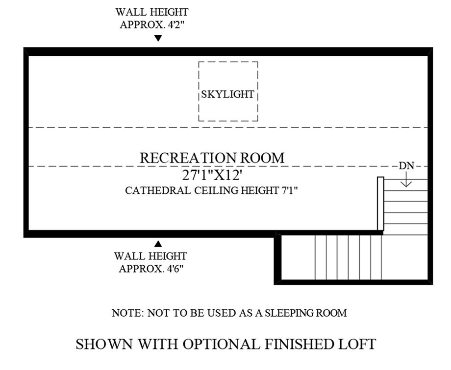 Optional 3rd Floor Floor Plan