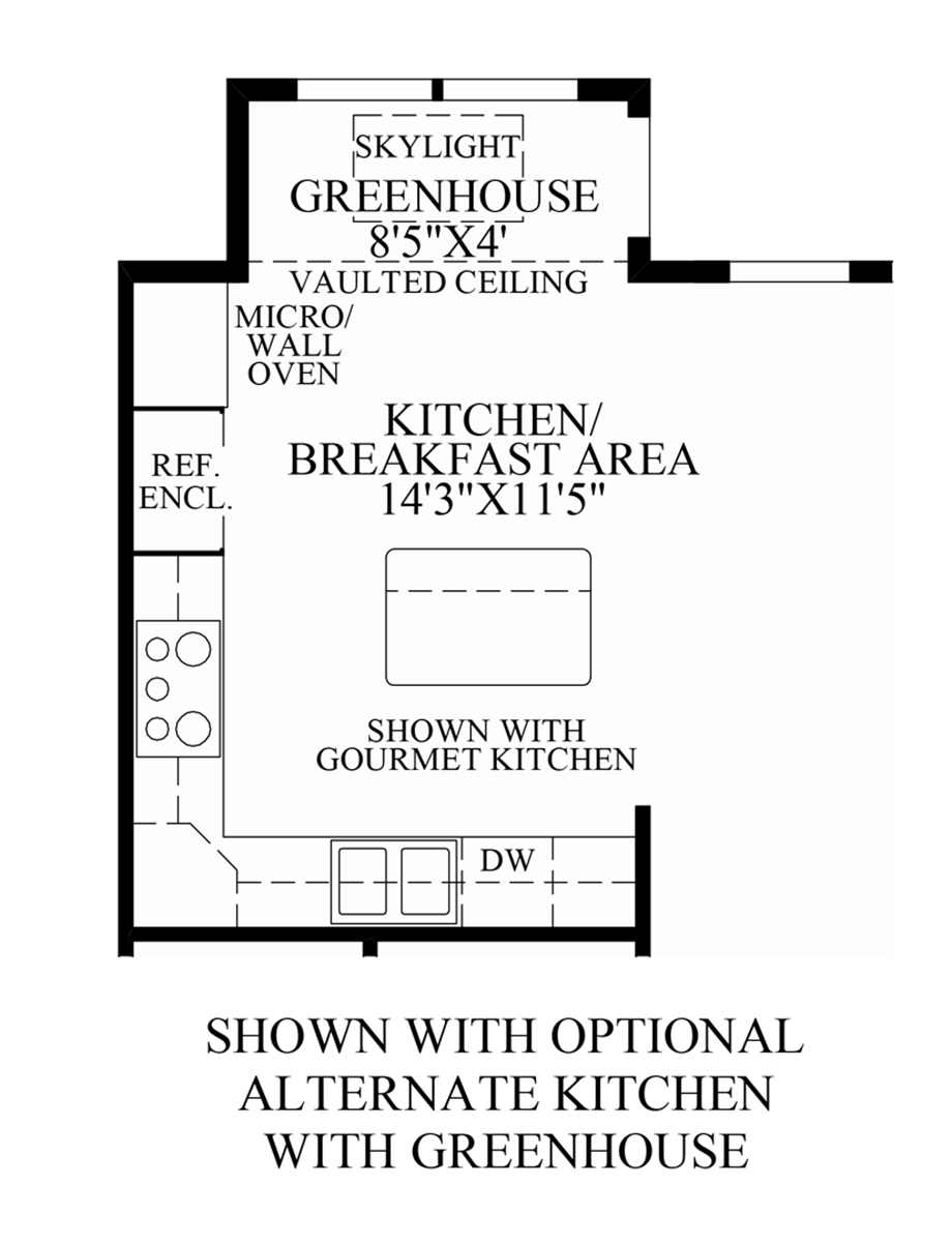 Optional Alternate Kitchen with Greenhouse Floor Plan