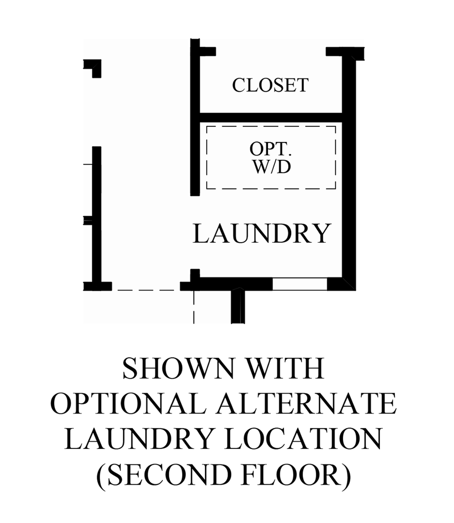 Optional Alternate Laundry Location (2nd Floor) Floor Plan