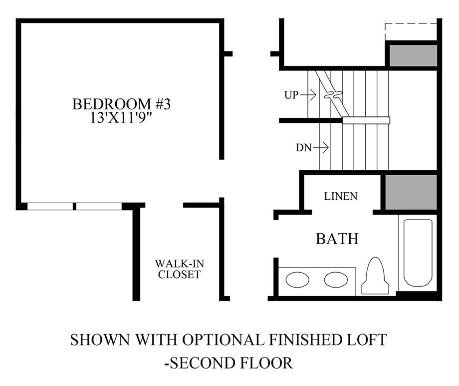 Optional Finished Loft - Second Floor Floor Plan