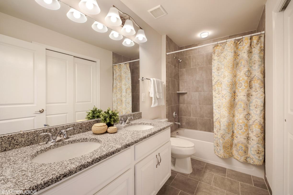 Second-floor shared hall bath