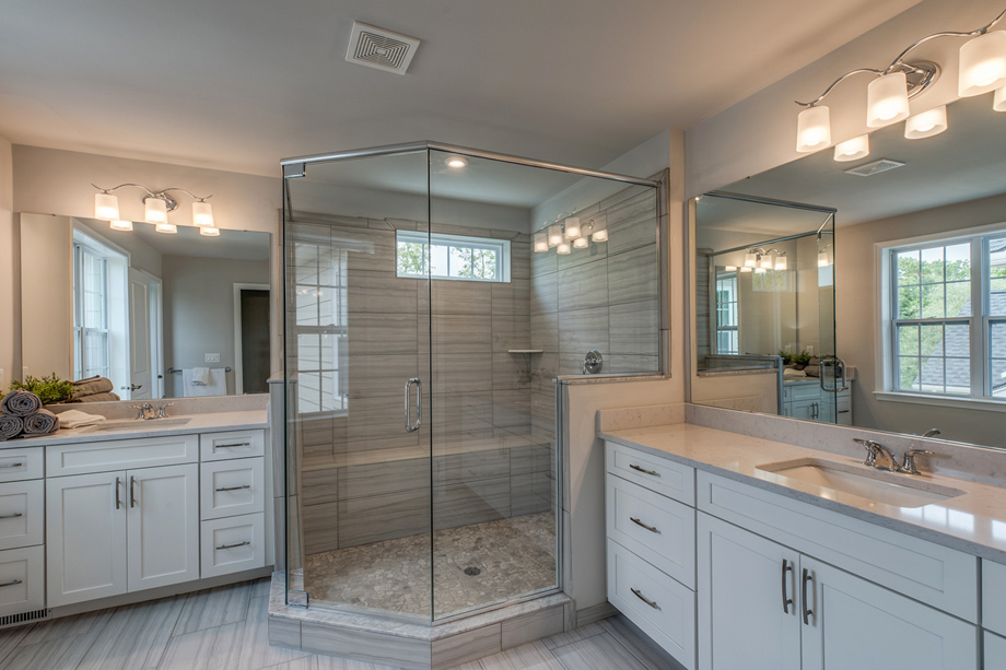 Lavish primary bath shown with Luxurious Primary Bath Package