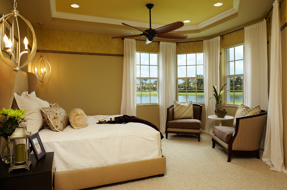 Jupiter country club carriage homes the pesaro home design Model home master bedroom decor