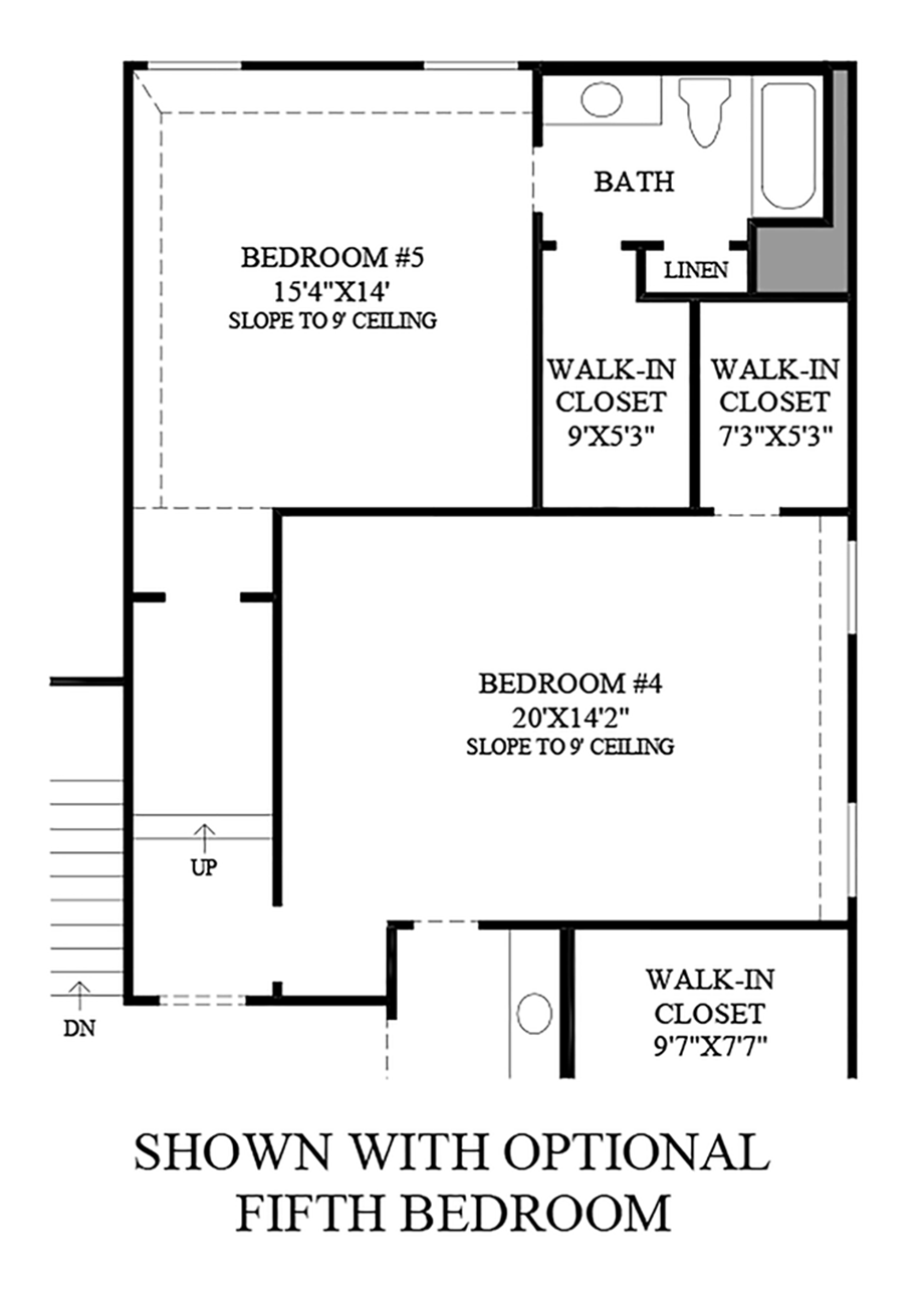 Optional Fifth Bedroom Floor Plan