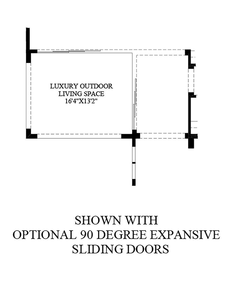 Optional 90 Degree Expansive Sliding Doors Floor Plan