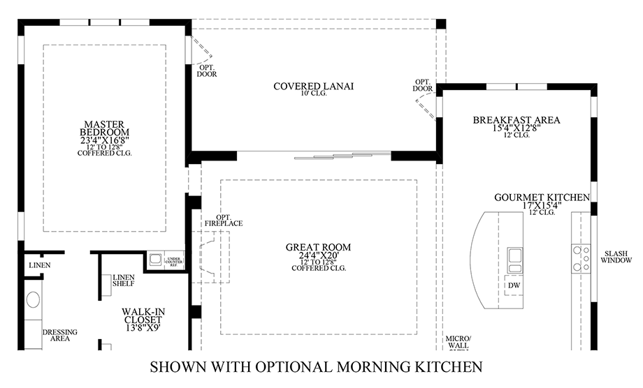 Optional Morning Kitchen Floor Plan