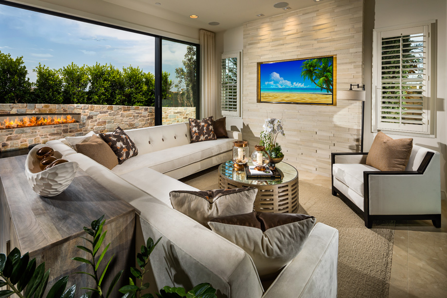 Jonas Brothers Texas Home Stunning Rustic Living Room: Lake Forest CA New Construction Homes