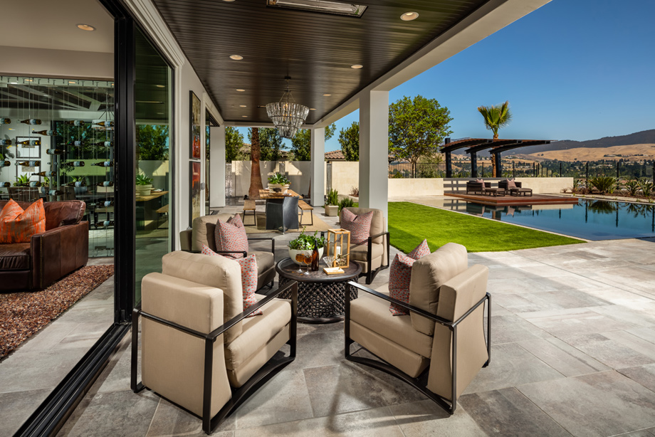 Iron oak at alamo creek the ponderosa home design - Covered outdoor living spaces ...