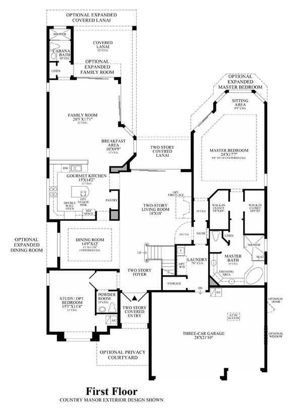 Parkland golf and country club by toll brothers heritage for House plans for golf course lots