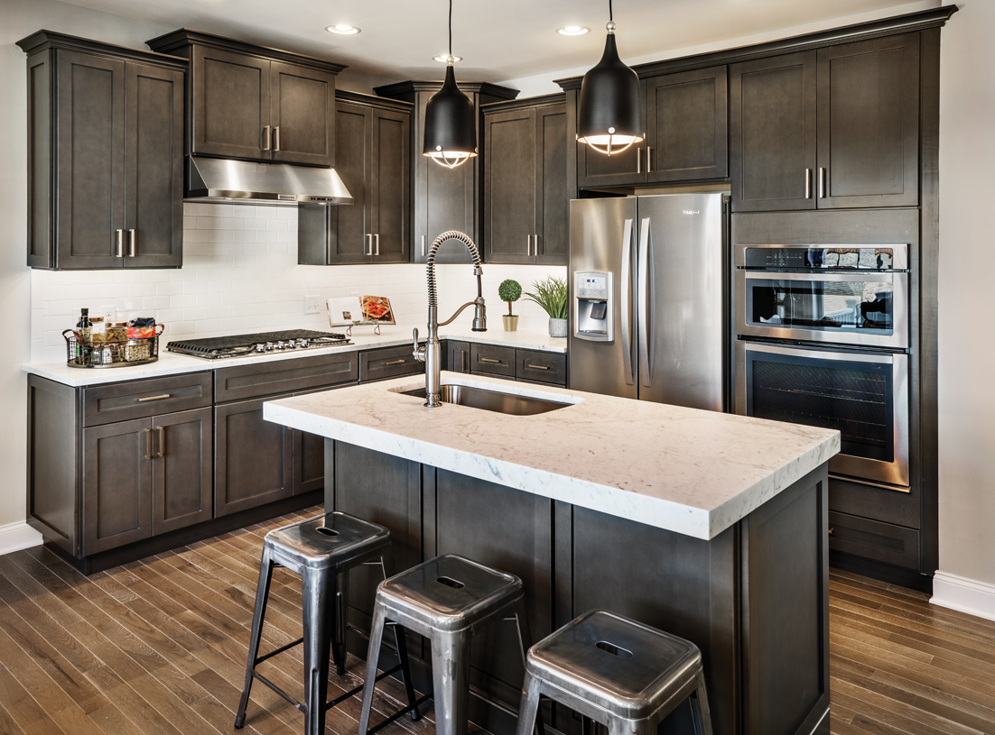 Kitchen with center island and state-of-the-art appliances