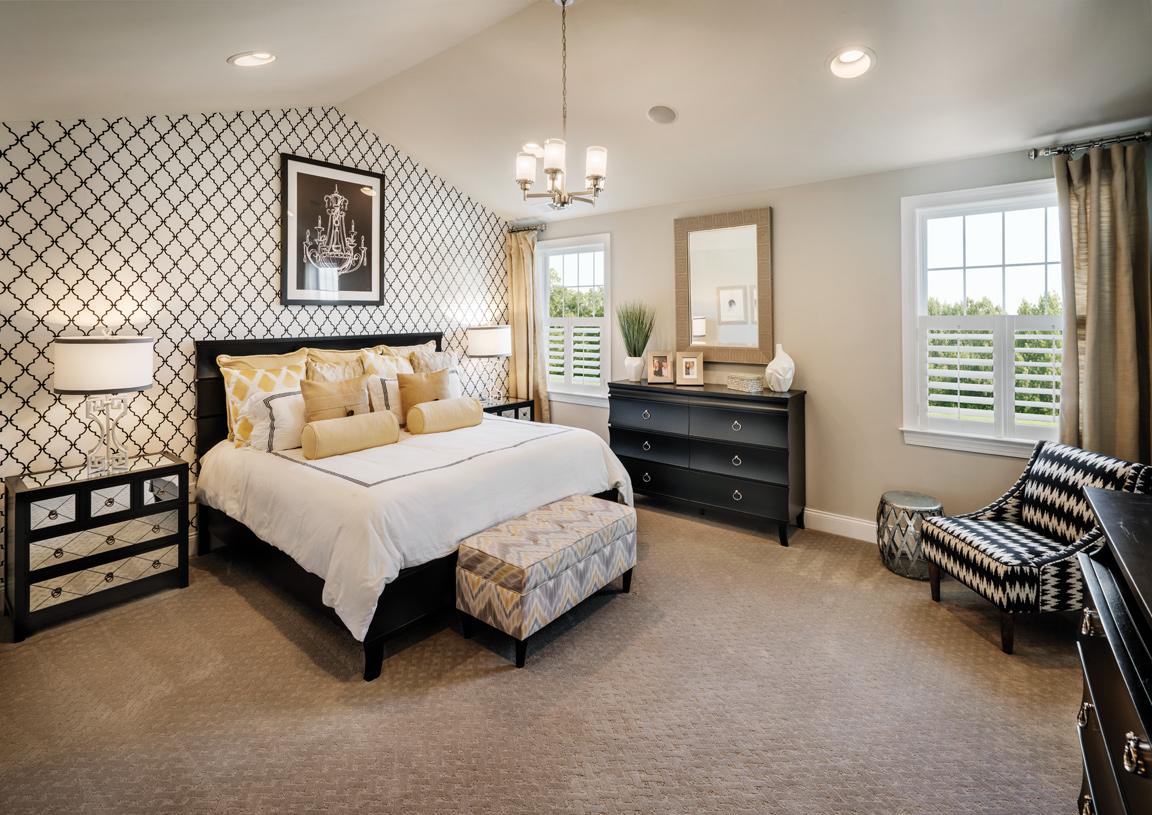 Primary bedroom suite with walk-in closet