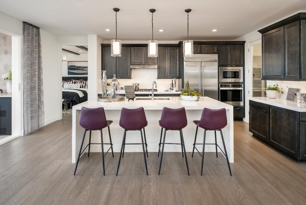 Well-appointed kitchen with gorgeous cabinetry, countertops, and premium stainless steel appliances