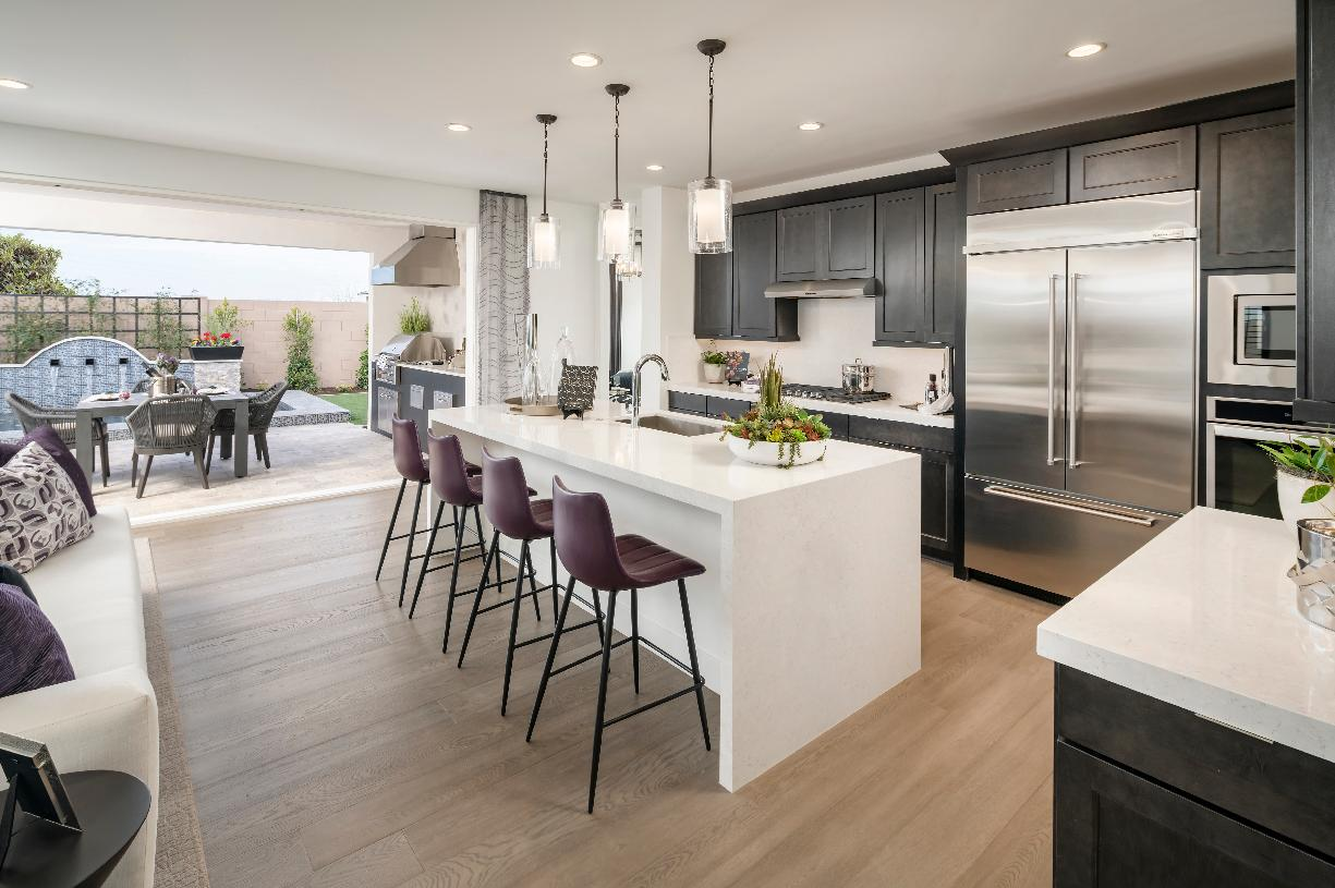 Beautiful kitchen with access to outdoor dining area