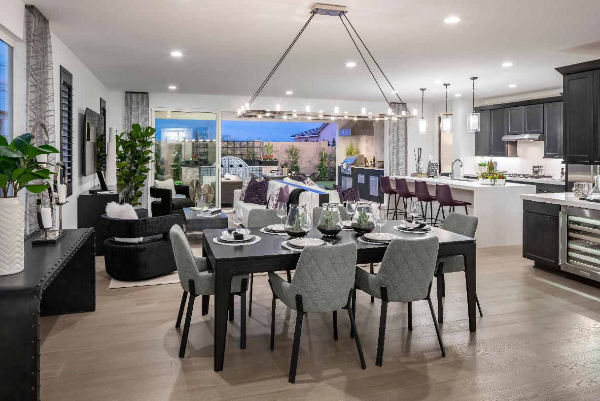 Open great room, kitchen, and dining provide perfect space for entertaining