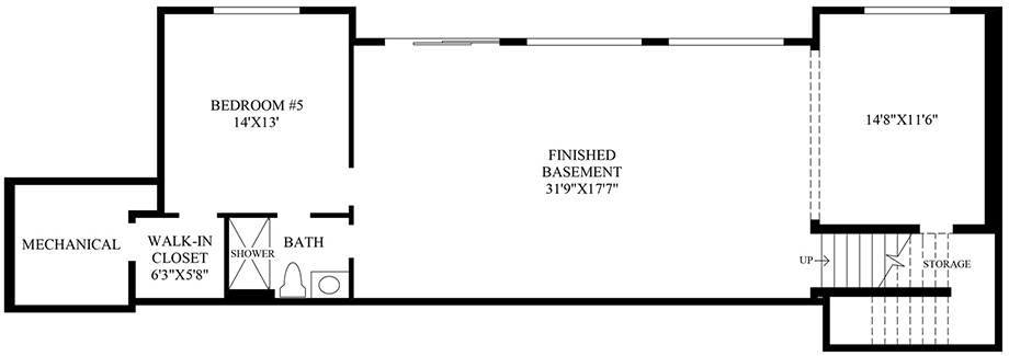Optional Finished Basement Floor Plan