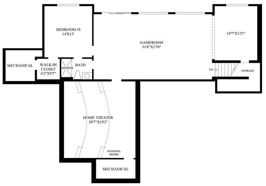 Optional Home Theater Floor Plan