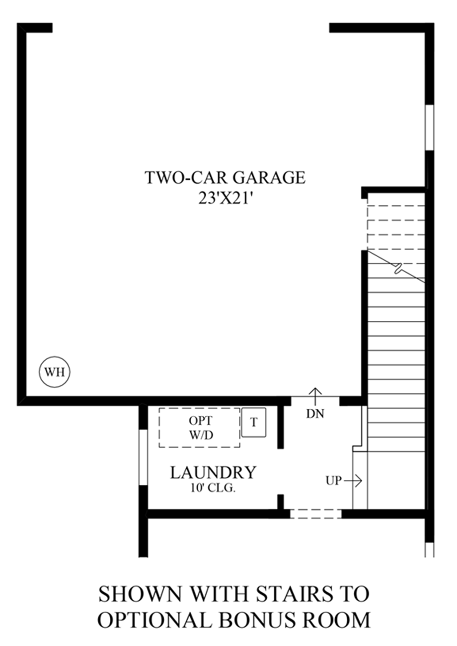 Stairs to Optional Bonus Room Floor Plan