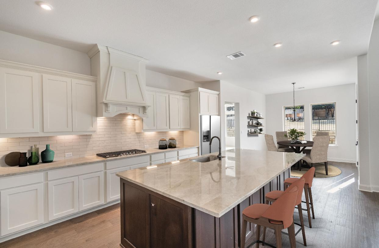 Well-appointed kitchen with large center island