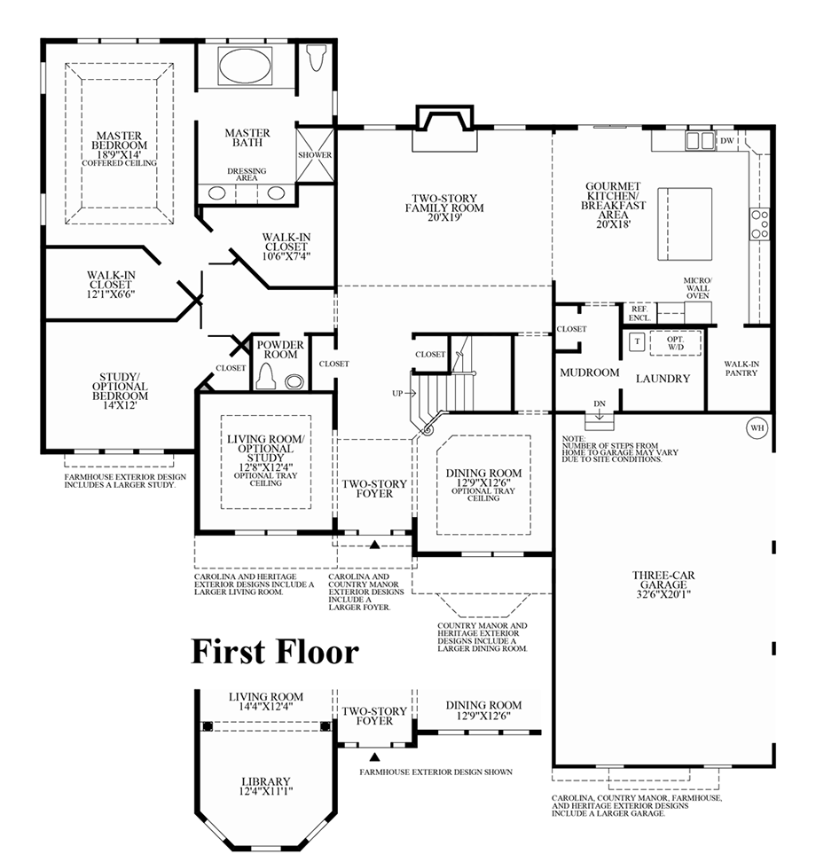 preserve at marvin the raleigh ii home design 1st floor floor plan